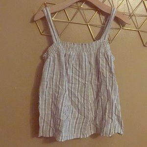 Tops - Summer stripe boxy tank